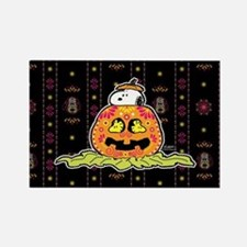 Day of the Dead Snoopy Pumpkin Rectangle Magnet