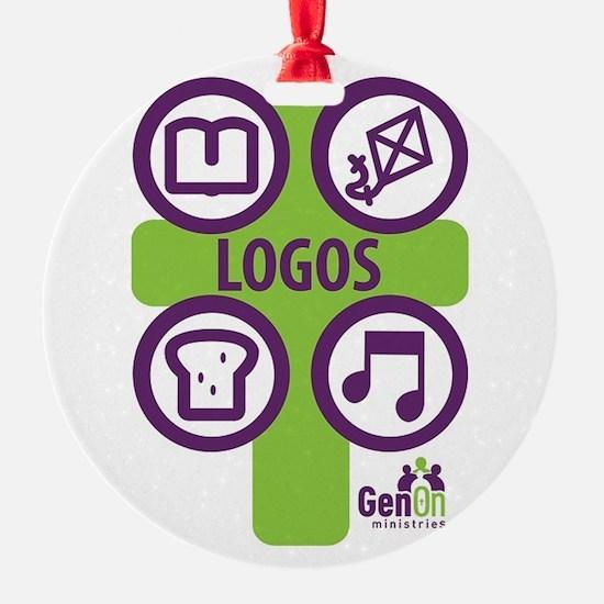 LOGOS logo Ornament