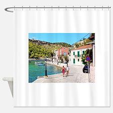Village of Assos Shower Curtain