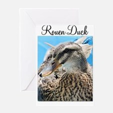 Female Rouen Duck in Water Greeting Cards