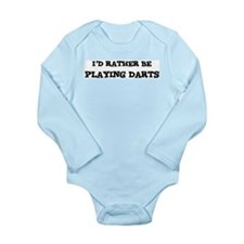 Cute Id rather playing basketball Long Sleeve Infant Bodysuit