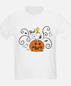 Peanuts Snoopy Sketch Pumpkin T-Shirt
