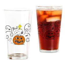 Peanuts Snoopy Sketch Pumpkin Drinking Glass