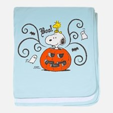 Peanuts Snoopy Sketch Pumpkin baby blanket