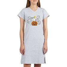 Peanuts Snoopy Sketch Pumpkin Women's Nightshirt