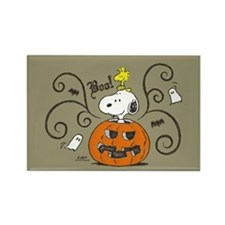 Peanuts Snoopy Sketch Pumpkin Rectangle Magnet