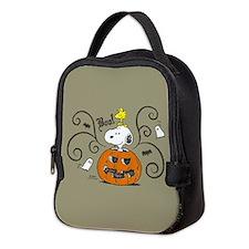 Peanuts Snoopy Sketch Pumpkin Neoprene Lunch Bag