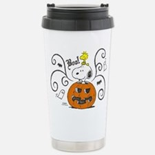 Peanuts Snoopy Sketch P Stainless Steel Travel Mug