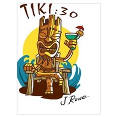 J Rowe Tiki:30 God Poster