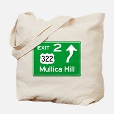 NJTP Logo-free Exit 2 Mullica Hill Tote Bag