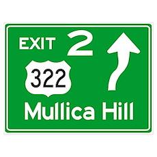 NJTP Logo-free Exit 2 Mullica Hill Poster