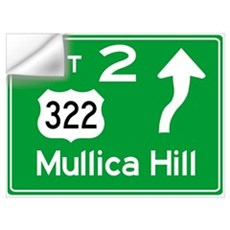 NJTP Logo-free Exit 2 Mullica Hill Wall Decal