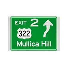 NJTP Logo-free Exit 2 Mullica Hil Rectangle Magnet