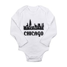 Funny City skylines Long Sleeve Infant Bodysuit