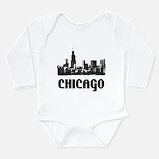 Funny Chicago illinois Long Sleeve Infant Bodysuit