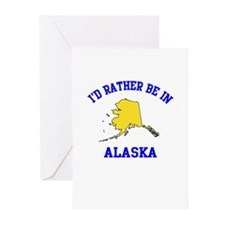 I'd Rather Be in Alaska Greeting Cards (Pk of 10)