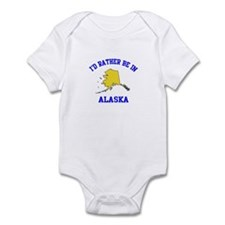 I'd Rather Be in Alaska Infant Bodysuit