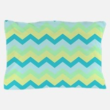 Soft Summery Beach Zigzag Pillow Case