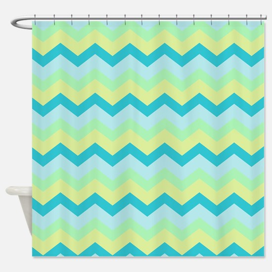 Soft Summery Beach Zigzag Shower Curtain