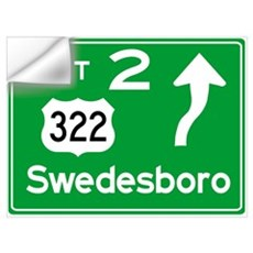 NJTP Logo-free Exit 2 Swedesbor Wall Decal