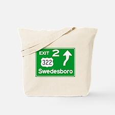 NJTP Logo-free Exit 2 Swedesbor Tote Bag