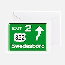 NJTP Logo-free Exit 2 Swedesbor Greeting Card
