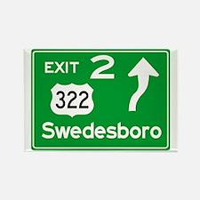 NJTP Logo-free Exit 2 Swedesbor Rectangle Magnet
