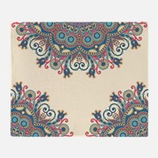 Floral Pattern Throw Blanket
