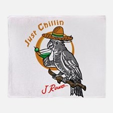 J Rowe Just Chillin Cockatoo Throw Blanket