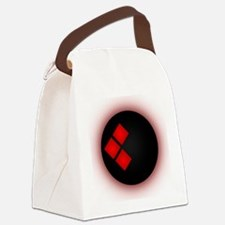 Cute Red circle Canvas Lunch Bag