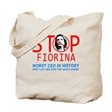 STOP FIORINA  anti Carly Fiorina  Tote Bag