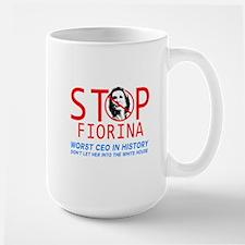 STOP FIORINA  anti Carly Fiorina  Large Mug