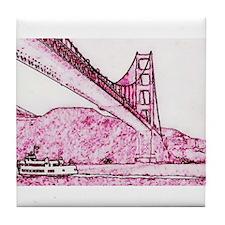 Golden Gate. Tile Coaster
