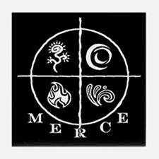 MERCE (black) Tile Coaster