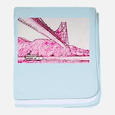 Golden Gate. baby blanket