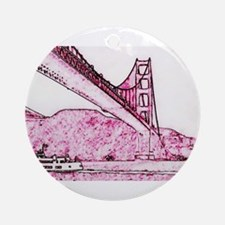 Golden Gate. Round Ornament
