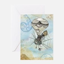 Cool Steampunk Greeting Card