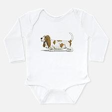 Cute Basset Long Sleeve Infant Bodysuit
