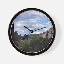Flatirons and Oils Wall Clock