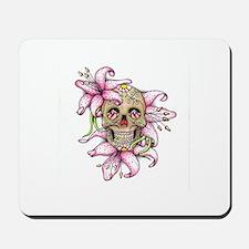 Pink Rocker Sugar Skull Mousepad