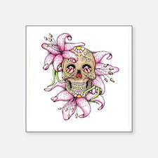 Pink Rocker Sugar Skull Sticker
