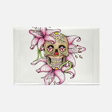 Pink Rocker Sugar Skull Magnets