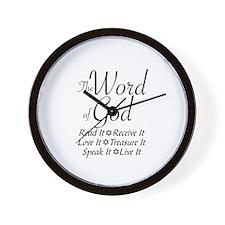 THE WORD OF GOD - JEWISH Wall Clock