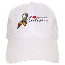 I Love Someone With Autism Cap