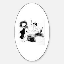 Cute Aubrey Sticker (Oval)