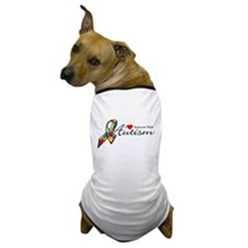 I Love Someone With Autism Dog T-Shirt