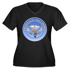 Army Reserve Women's Plus Size V-Neck Dark T-Shirt