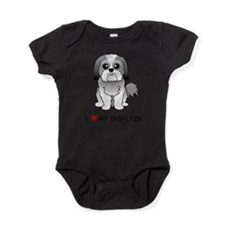 Cute Shih tzu dogs Baby Bodysuit