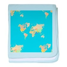 world map baby blanket