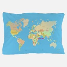 world map Pillow Case